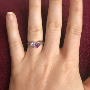 Jared Amethyst Ring Heart-Shaped Sterling Silver